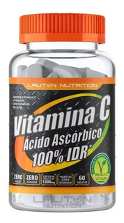 Vitamina C Ácido Ascórbico 100% Idr Lauton Nutrition 60tabs