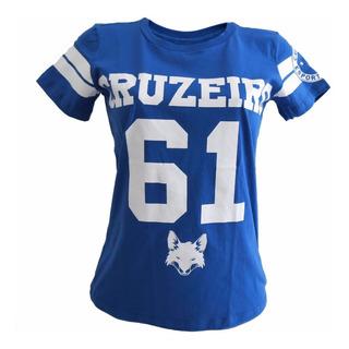 Camisa Do Cruzeiro Feminina 6x1 Lançamento - Mulheres Cruzeirenses - Times Futebol
