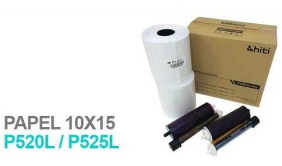 Hiti P520/ P525l Kit Papel Fotografico + Ribbon - 1000 Fts
