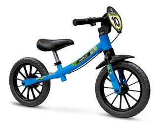 Balance Bike Infantil Nathor Bicicleta Equilíbrio Azul
