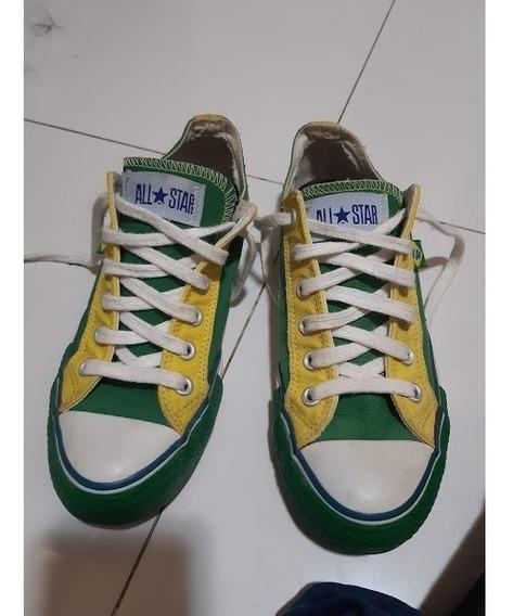 All Star Converse Verde E Amarelo Da Copa