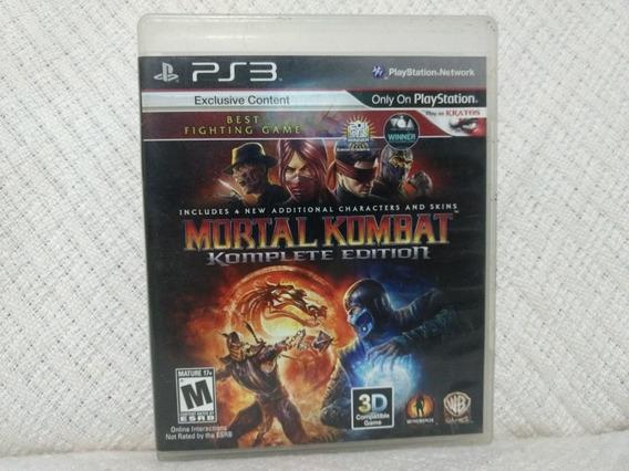Jogo Ps3 Mortal Kombat Komplete Edition Mídia Física Origina