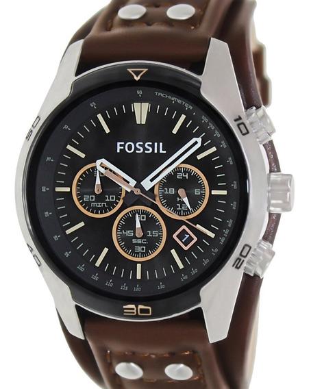 Relógio Fossil Masculino Coachman Couro -ch2891
