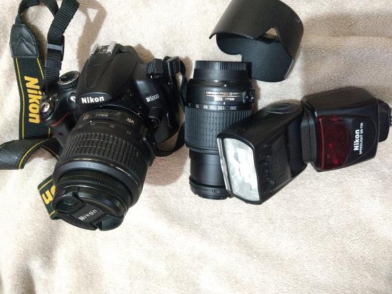 Camera Nikon Com Lente 55-200 E Flash Ss-700