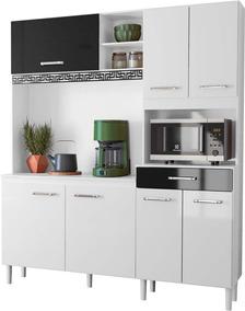Cozinha Compacta 7 Portas 1 Gaveta Completa Kit 1,6 A7