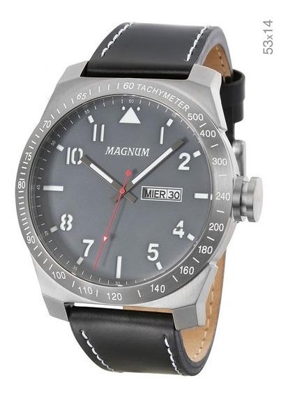 Relógio Magnum Masculino Analógico Kit Com Pulseira Ma34316x
