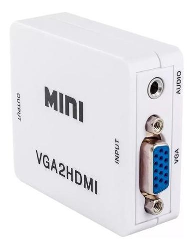 Conversor Vga Para Hdmi Com Entrada De Audio P2