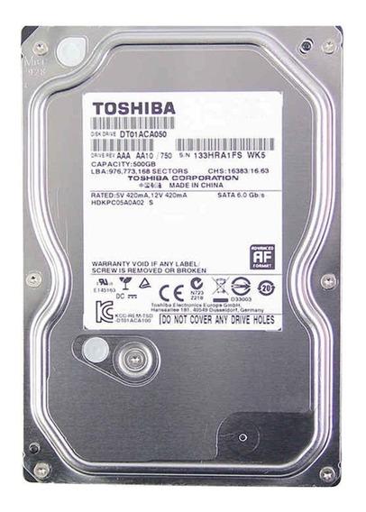 Hd Toshiba Dt01aca050 500gb 7200rpm Sata 6 Gb/s 32mb