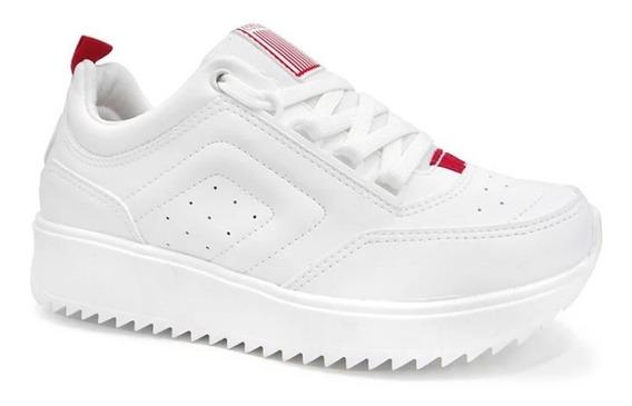 Tênis Coca-cola Shoes Feminino Branco Flat Form Original