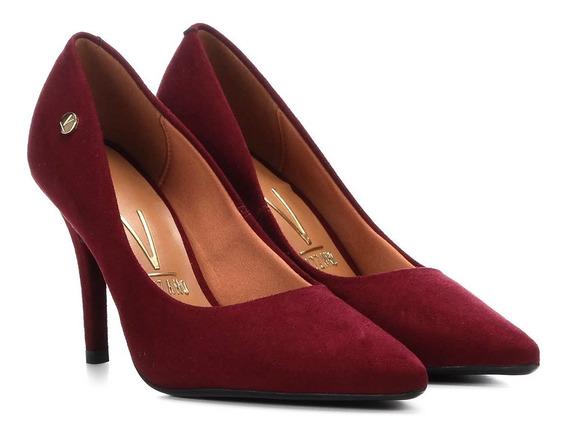 Sapatos Femininos Scarpin Salto Alto Vizzano Nobuck