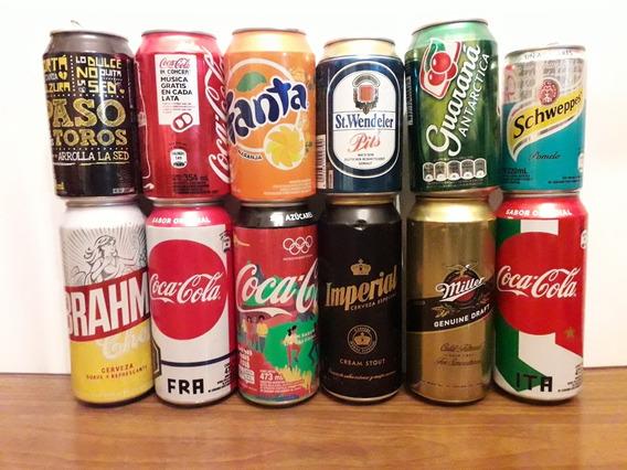 Lote C 24 Latas De Cervezas Y Gaseosas Vacías