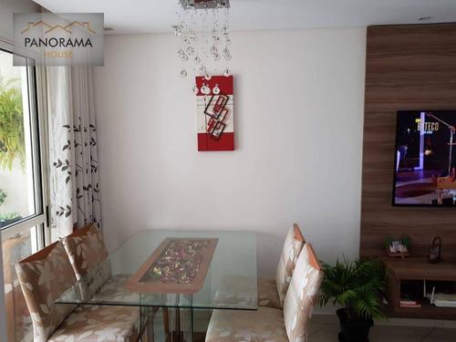 Imagem 1 de 30 de Apartamento Com 3 Dormitórios À Venda, 63 M² Por R$ 390.000,00 - Piraporinha - Diadema/sp - Ap0156