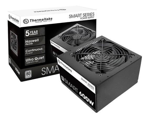 Fonte 600w Thermaltake Smart Atx 80 Plus+ White Nfe