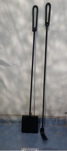 Imagen 1 de 6 de Set Pala + Atizador 75 Cm Estufa  Parrillero Y Mas Variantes