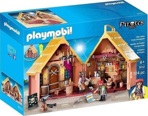 Playmobil Fortaleza Pirata En Maletin Int 9112 Orig Intek