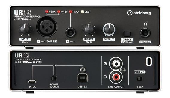 Interface De Áudio Steinberg Ur12 Yamaha Usb 2.0 Audio Midi