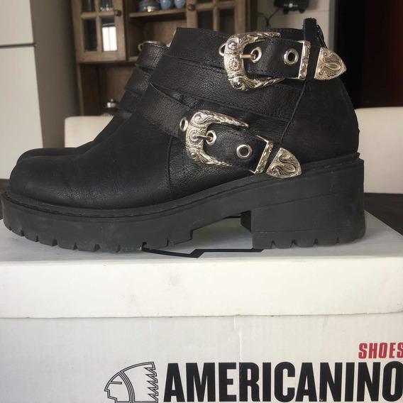 Borcego Dora Americanino Shoes Cómo Nuevos Talle 38 Cuero
