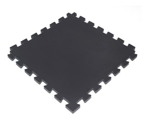 Tatame Tapete Eva 100x100x2cm 1x1 Metro 20mm Preto/cinza