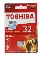 Micro Sd Toshiba 32gb Exceria Classe 10 48mb/s Original.