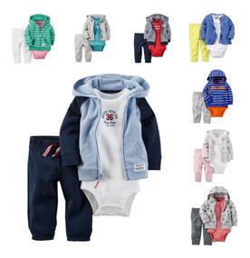 Carters Conjunto 3 Peças Calça Body Blusa Infantil