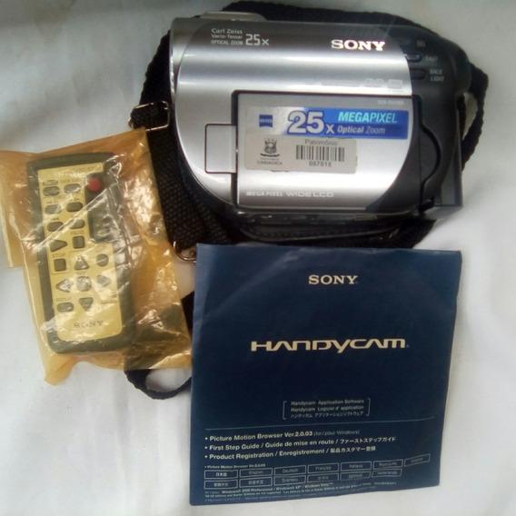 Filmadora Sony Dcr-dvd 308 Handycam Com 3 Mini Cd E Controle