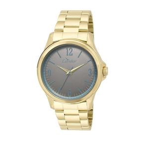 Relógio Condor Feminino Dourado Visor Grafite Co2039ag 4c