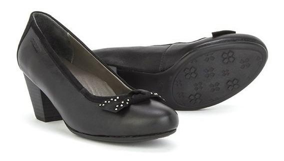 Zapatillas Zapatos Onena 2625 Negro Damas Piel Moños