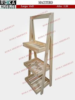 Organizador Exhibidor Estante 0.45x1.20 Macetero Escalera