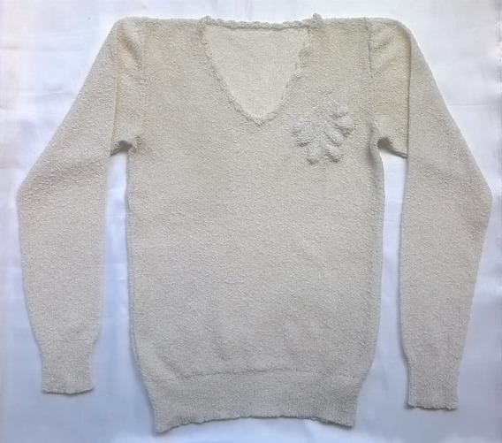 Sweater Remera Boucle Medio Tiempo Mujer Manga Larga Talle S