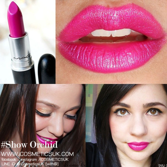Labial Mac, Amplified Cream, Tono Show Orchid