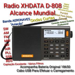 Radio Original Xhdata D-808 Fm/sw/mw/lw/ssb/pll/rds/aérea