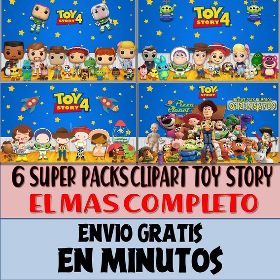 6 Super Packs Imágenes Clipart Toy Story 4 Woody Forky Full