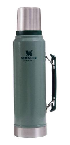 Imagen 1 de 3 de Stanley Termo Clásico 1 L con Tapón Cebador de acero inoxidable verde