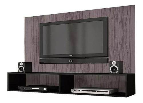 Rack Para Tv Lcd Led - Soporte Color Gris Negro Muebles Web