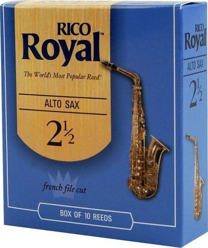 Imagen 1 de 1 de Caña Para Saxo Rico Royal 1 Caja X 10 Und