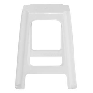 Banqueta Acero De Plastico Cuadrada Blanca Gardenlife Kromos