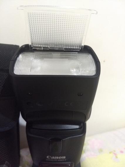 Flash Canon 430exii Semi Novo + Carregador Com Pilhas Estojo