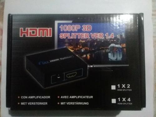 Splitter Hdmi X2 Salidas Con Fuente Y Caja Original