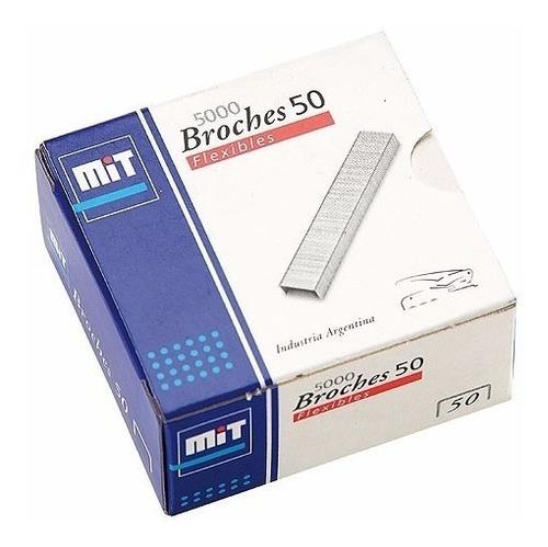 10 Cajas De Broches Mit Para Abrochadora 50 X 5000 Ganchito