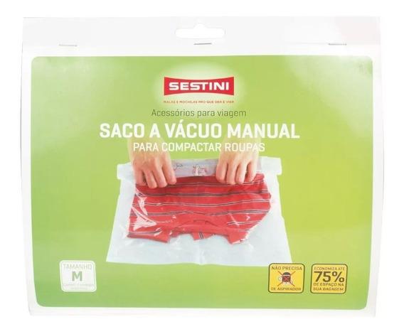 Saco A Vácuo Manual Médio 2 Peças Sestini