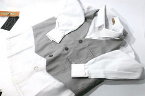 Camisa Branca E Colete Social Infantil Masculino