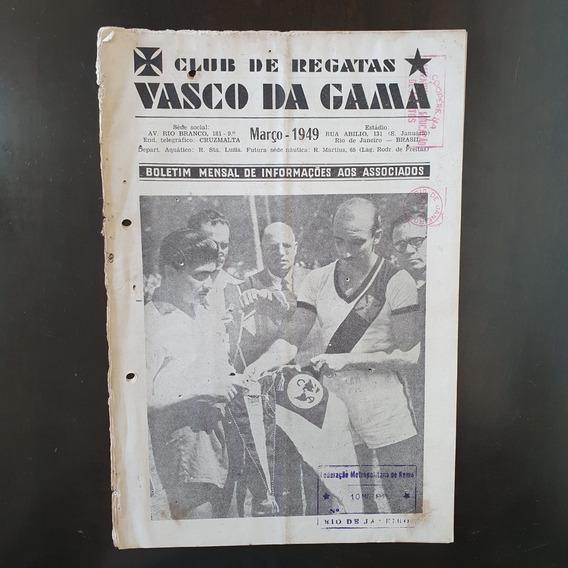 Revista Oficial Futebol Vasco Da Gama 1949 Raridade