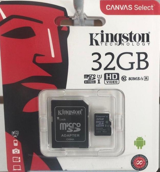 Cartão Mem. Micro Sd Kingston 16gb + Adpt. Cl 10