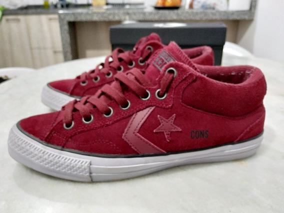 Tenis Converse Allstar Star Ox Replay Mid Vinho Skate