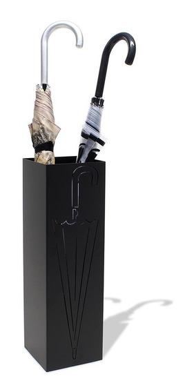 Cesto Porta Guarda-chuva Aço Preto Moderno Vazado Decorativo