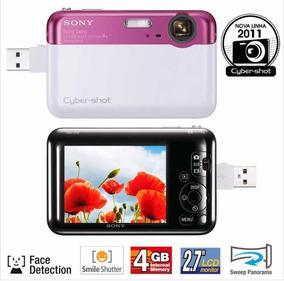 Câmera Digital Sony-rosa/branca