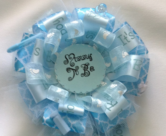 Baby Shower Corsage Baby Blue Mommy To Be Corsage 6 Pulgada
