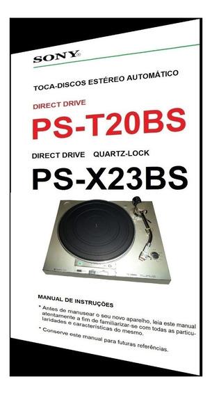 Manual Dos Toca-discos Sony Ps-t20bs E Ps-x23bs (colorido)