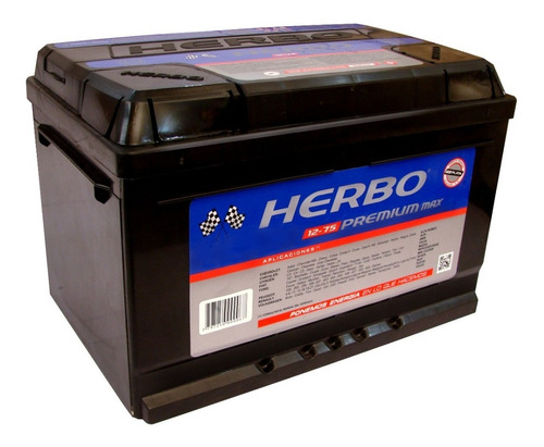 Bateria Herbo Premium Max 12x75 Vw Gol 1.6 Naf 1.9 Td