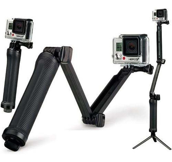 Bastão 3 Formas 3way Garra Tripé Câmeras Gopro Sjcam Xiaomi
